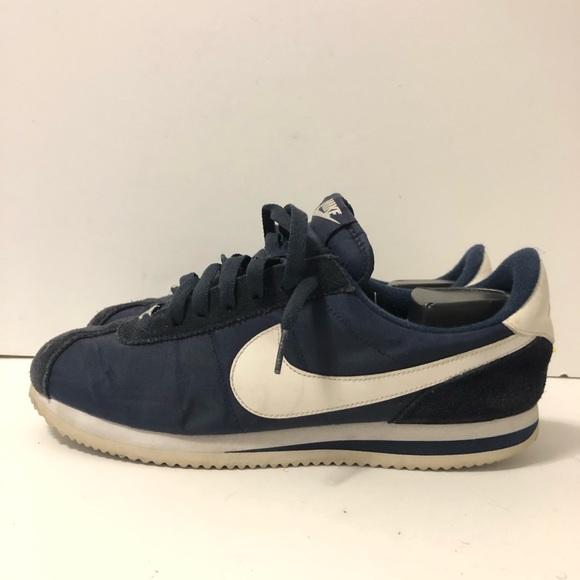 detailed look b2114 20e46 Sz 9.5 Nike Cortez Navy